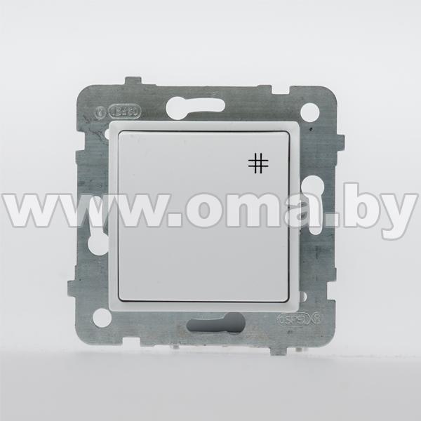 Купить OSPEL ROSA бел. Выключатель 1-кл. крестовой LP-4Q/m/46