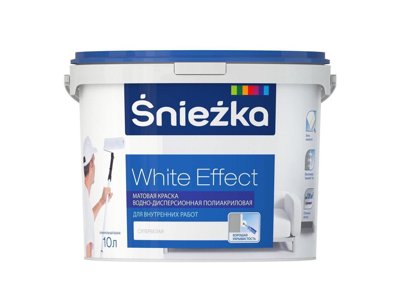 Купить Краска Sniezka White Effect для внутренних работ 10 л