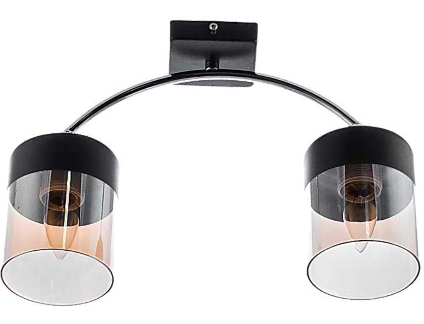 Купить Светильник подвесной (M) НПБ 02-2х60-102 RH8024/2 черный/хром (2*60Вт, Е27) Айтин-Про