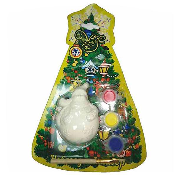 Купить Новогодний набор для творчества Снеговик кругленький артикул 75930 4х3, 5х7, 5 см
