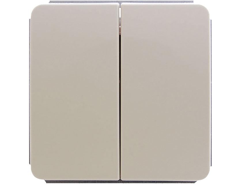 Купить Выключатель двухклавишный без рамки Gusi Extra С1В2-003 бежевый