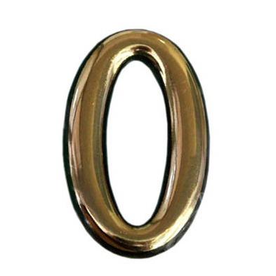 Купить Цифра дверная золото 0 пластик