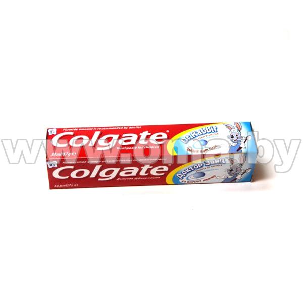 Купить Пастa зубная COLGATE Доктор Заяц со вкусом жвачки (детская гелевая) 50мл