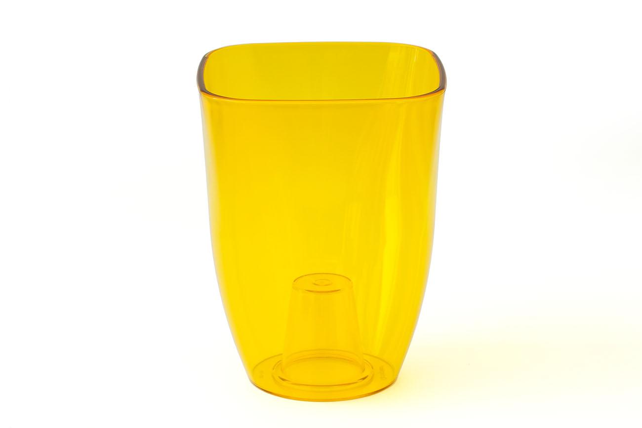 Купить Ваза для орхидей малая 125x125x165(арт.Т3208) желтый, пластик