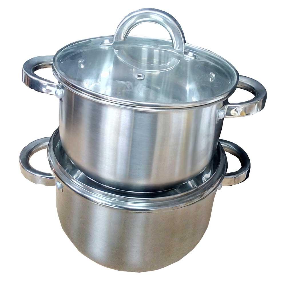 Купить Набор кастрюль артикул JYC -1820-1 из коррозионностойкой стали