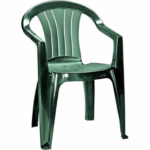 Купить Стул Сицилия темно-зеленый, полипропилен, арт.218045