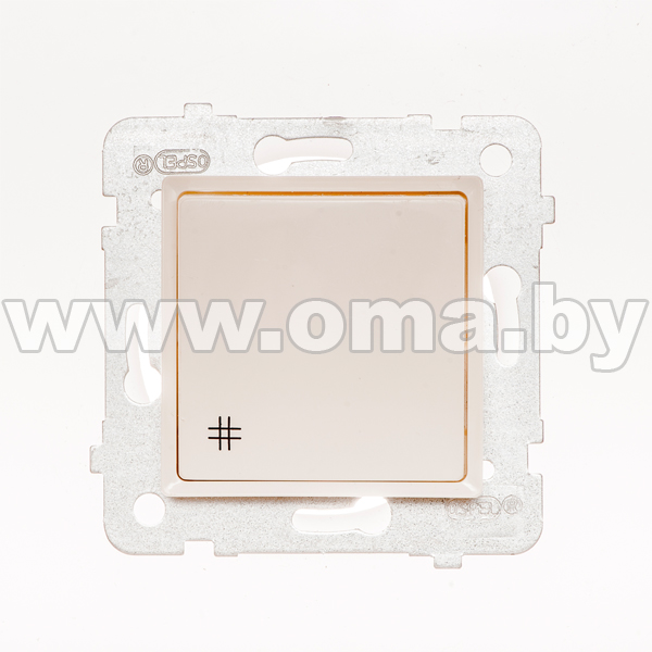Купить OSPEL ROSA сл.к. Выключатель 1-кл. крестовой LP-4Q/m/27