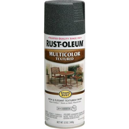Купить Эмаль-спрей Rust Oleum Stops Rust многоцветная текстурная Старый металл 0.34 кг