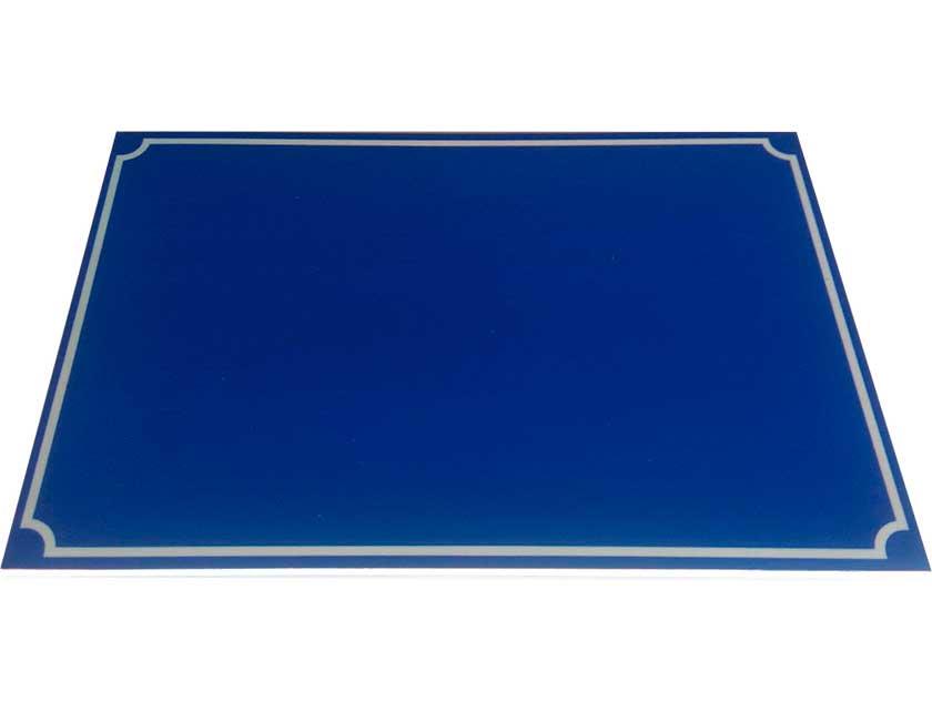 Табличка на дом синяя, 200х300 мм, пластик  - купить со скидкой