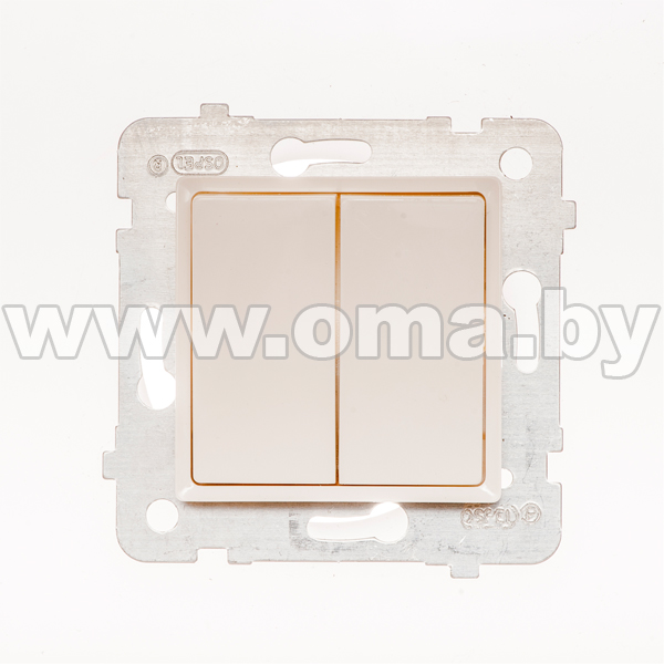 Купить OSPEL ROSA сл.к. Выключатель 2-кл. проходной (переключатель) LP-10Q/m/27