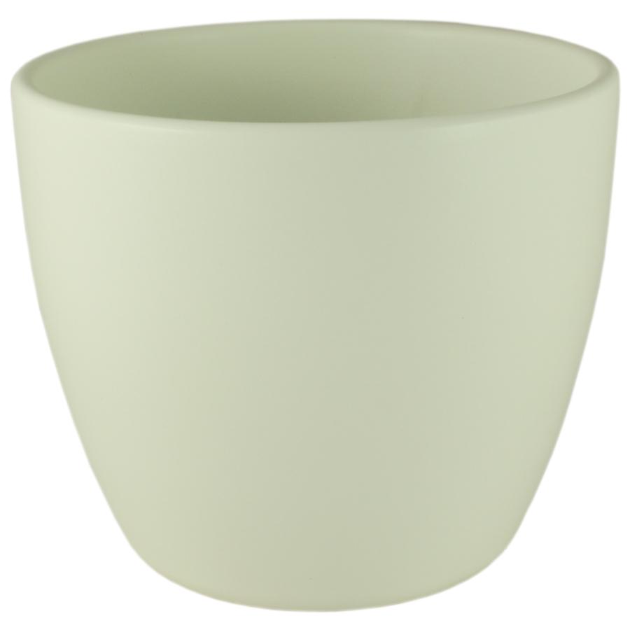 Купить Кашпо керамическое 909 13 см ваниль матовый