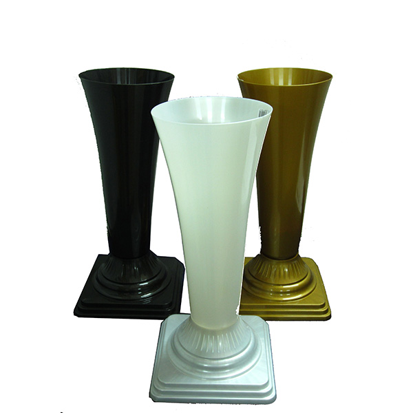 Ваза ритуальная пластмассовая D 13 ЧЕРНАЯ арт. 51193991  - купить со скидкой