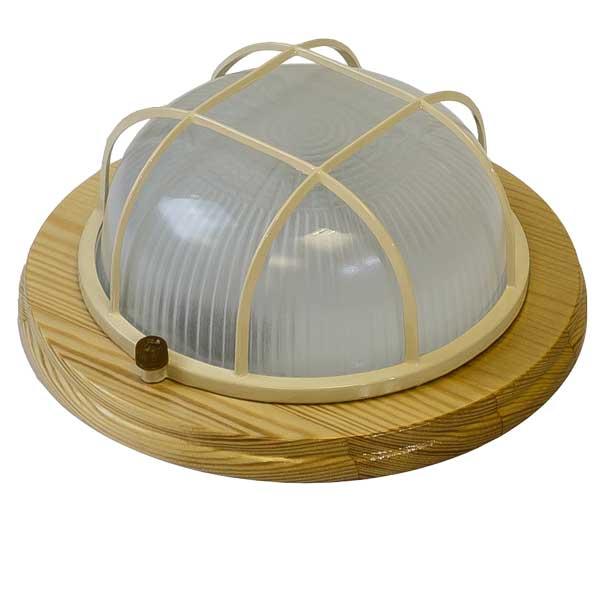Купить Светильник настенно-потолочный с решеткой Кантри 012 IP54 ДБО 03-6-012 клен