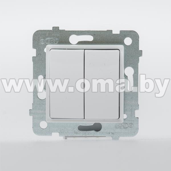 Купить OSPEL ROSA бел. Выключатель 2-кл. LP-2Q/m/46
