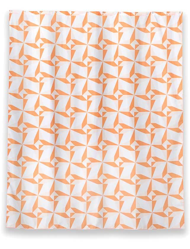 Купить Штора для ванной тканевая 180x200 см Triangulo, арт. T625-4 (т.м WESS)
