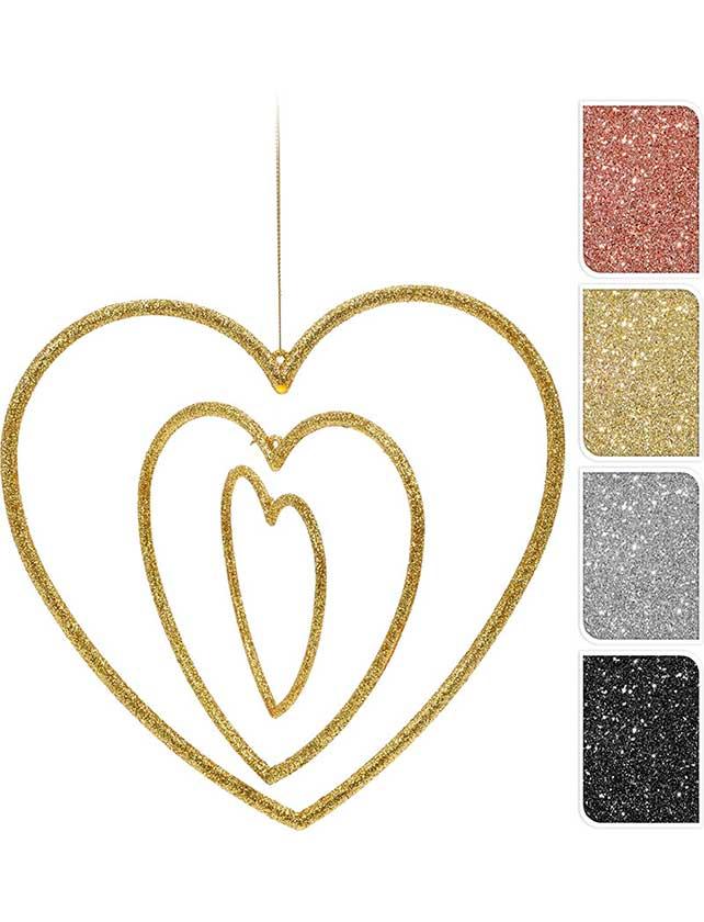 Купить Украшение новогоднее Сердце, 15х15х1 см, акрил