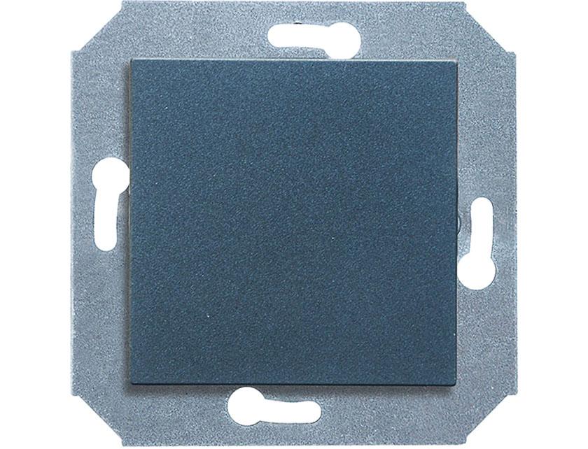 Купить Выключатель одноклавишный проходной без рамки Gusi City С5В41.ВК1-010 графит