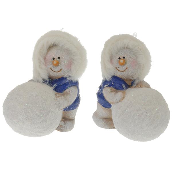 Купить Сувенир новогодний керамический Снеговик APF402540 8 см