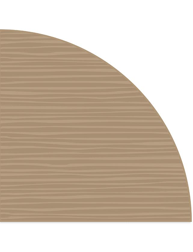 Купить Полка стеклянная вкладная угловая ПС 004-14 бронза-сатинат, 250х250 мм