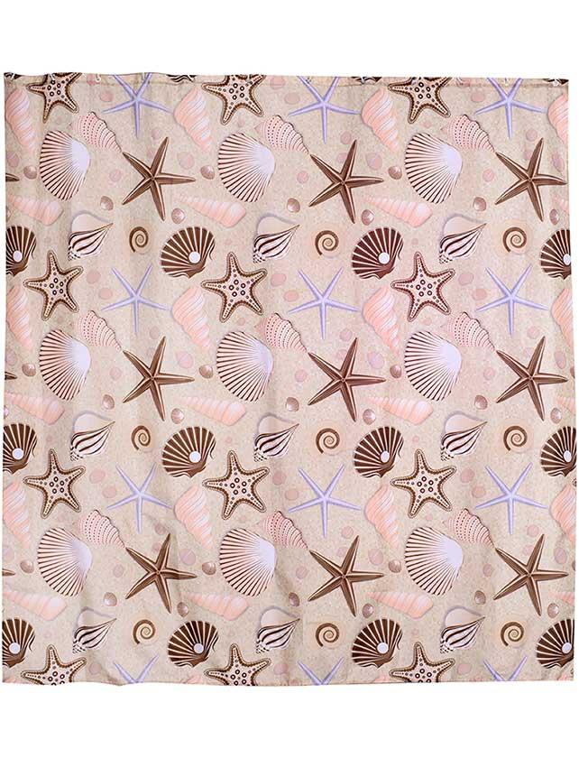 Купить Штора для ванной тканевая 180x180 см Shell. Арт. 631-12 (т.м VERRAN)