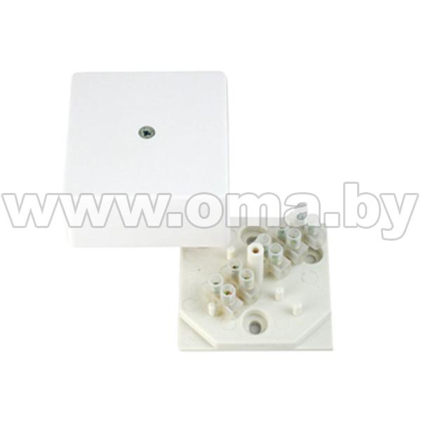 Купить Коробка монтажная, разветвительная для открытой установки прямоугольная с клеммником КРК2701-И (г/р 60х60х30)мм HEGEL