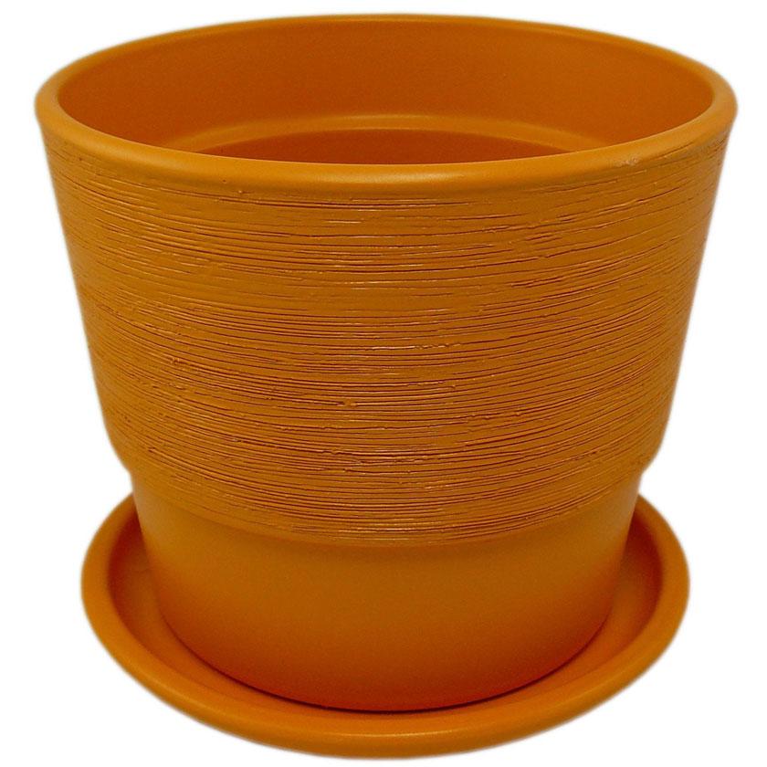 Купить Горшок керам. с подставкой 500 16 см, тыква, арт.KPL50016/13