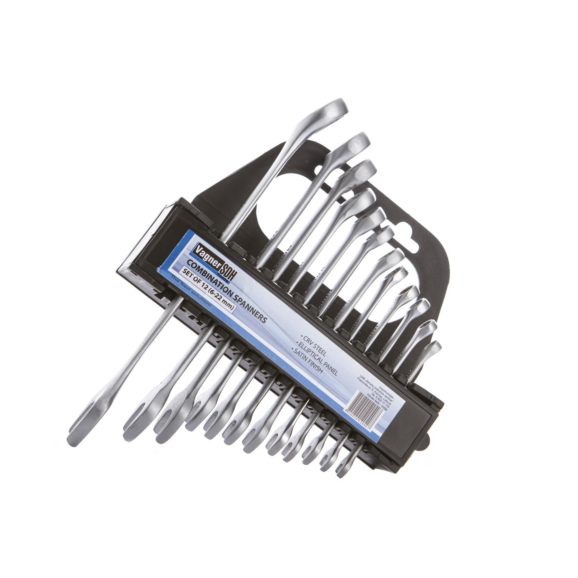Купить Набор комбинированных ключей VAGNER SDH 50719707, 6-22 мм, 12 штук