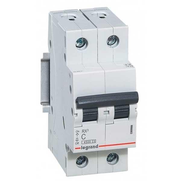 Купить Выключатель автоматический RX3 2P C63A 4, 5кА C 419703 Legrand
