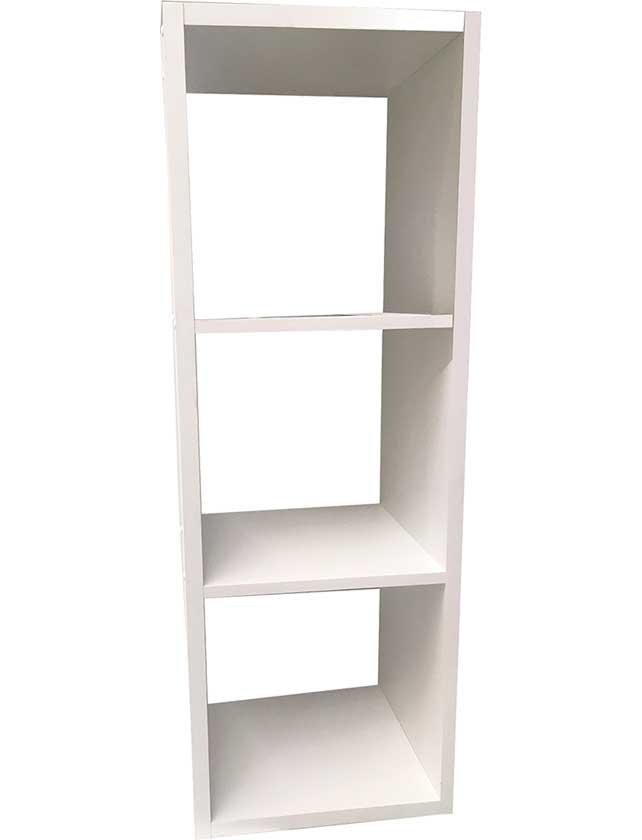 Стеллаж, 3 секции, 36,4х31,5х103,6 см, белый, С-БН.026.07.00.00-04