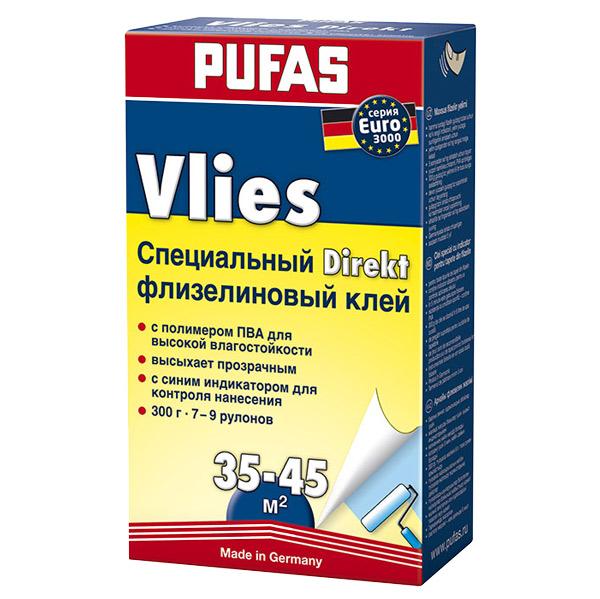 Купить Клей обойный PUFAS Флизелиновый клей Директ для флизелиновых обоев, 300 гр
