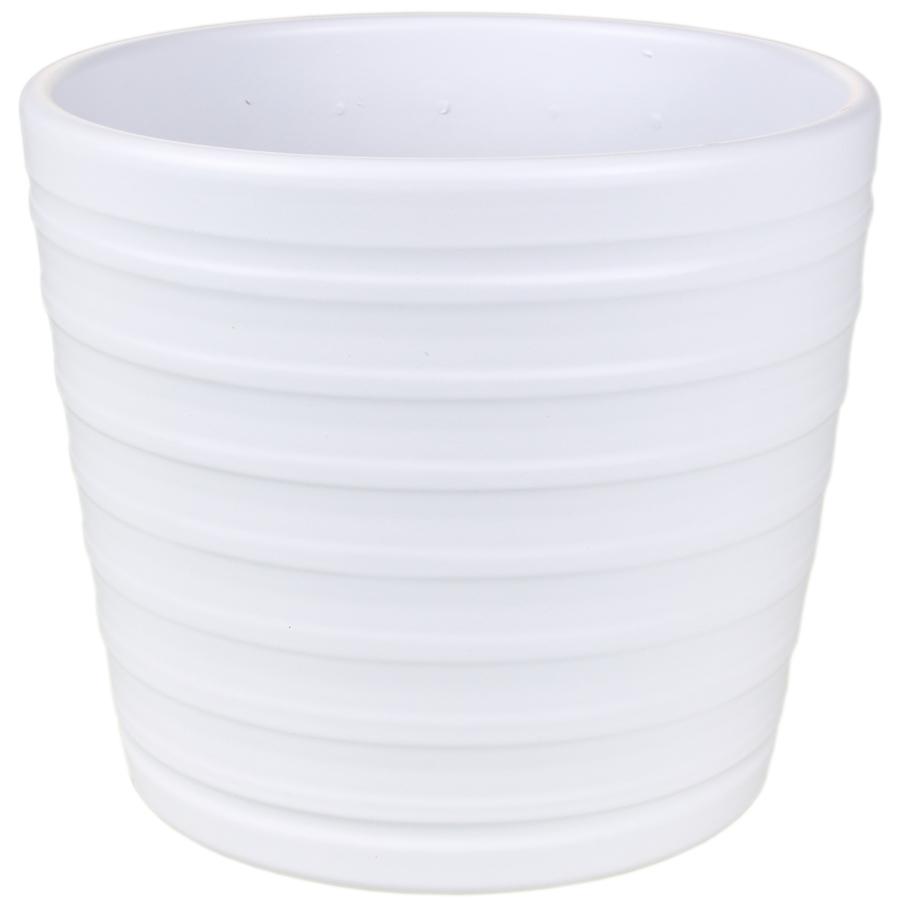 Купить Кашпо керамическое 819 15 см белый матовый