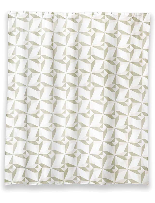 Купить Штора для ванной тканевая 180x200 см Triangulo. арт. T625-5 (т.м WESS)