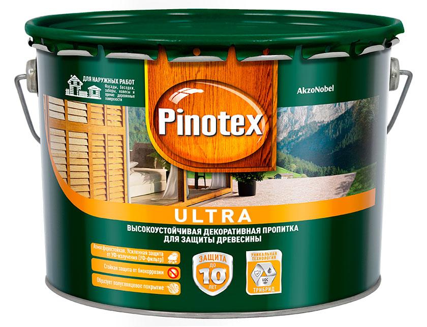 Купить со скидкой Состав Pinotex Ultra калужница 9 л