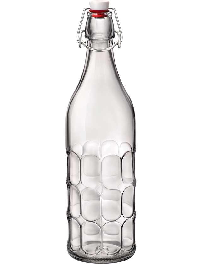 Купить Бутылка стеклянная с крышкой и зажимом, 1л, 345930FS1321990