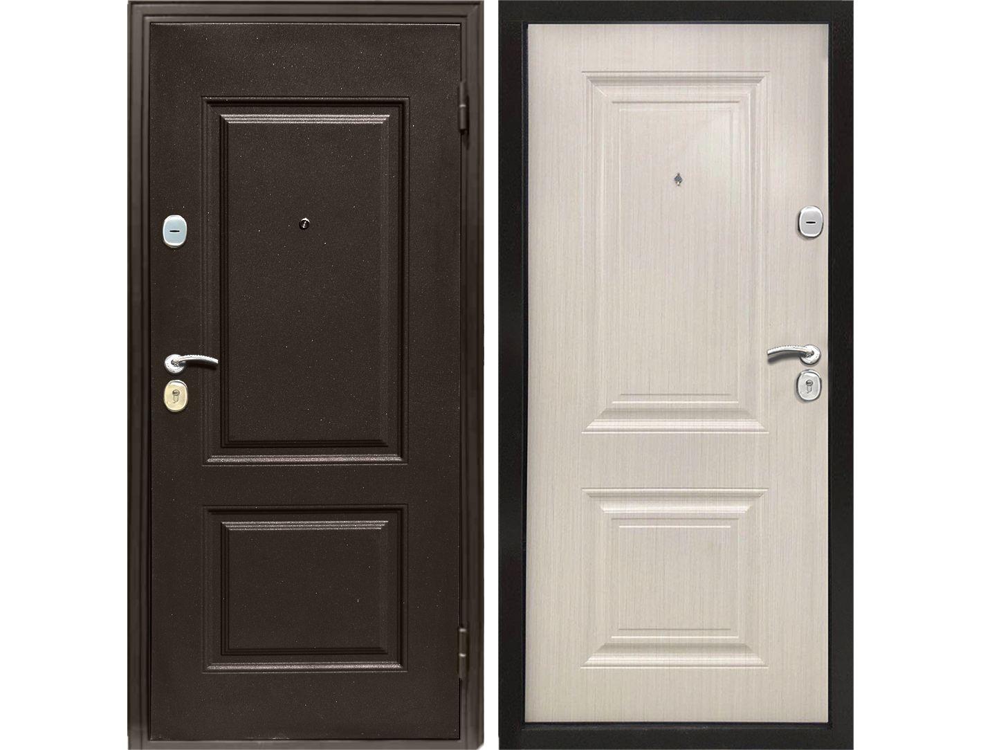 Купить со скидкой Дверь металлическая входная Классика ясень белый 2050*860 R