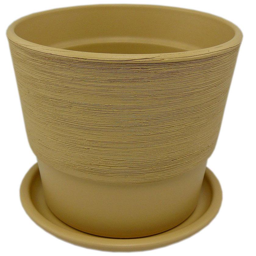 Купить Горшок керам. с подставкой 500 16 см, песок, арт.KPL50016/03