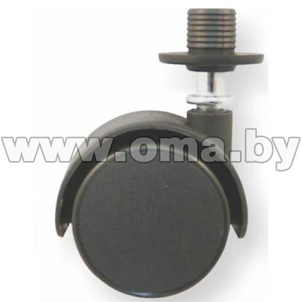 Купить Колесо мебельное КМN-50мм втулка+накладка, черное