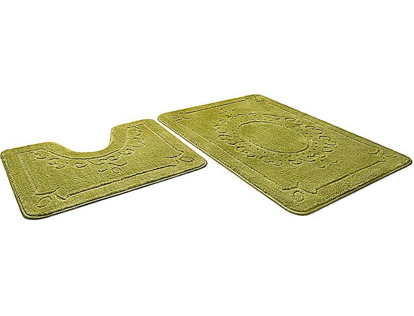 Купить Набор ковриков для ванной ЭКО 861798, 60х90 см, 60х50 см, салатный