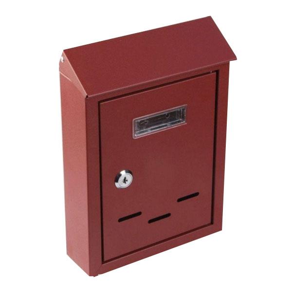 Купить Ящик почтовый К-38012 винно-красный 255х175х60 мм