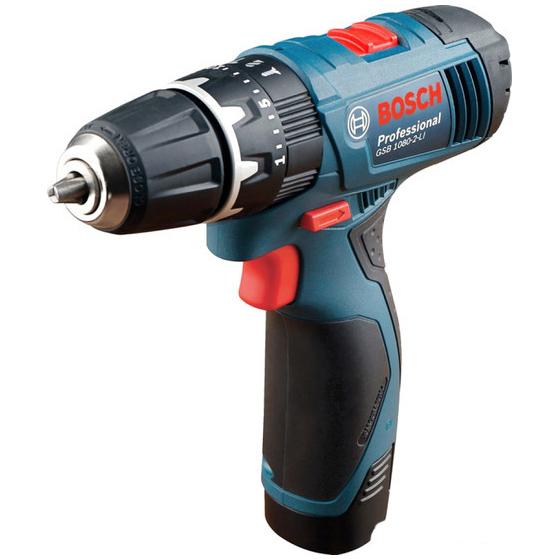 Купить со скидкой Дрель-шуруповерт Bosch GSB 1080-2-LI Professional, 0.601.9F3.000
