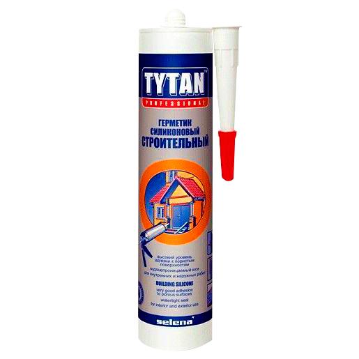 Силикон Tytan строителный белый 310 мл  - купить со скидкой