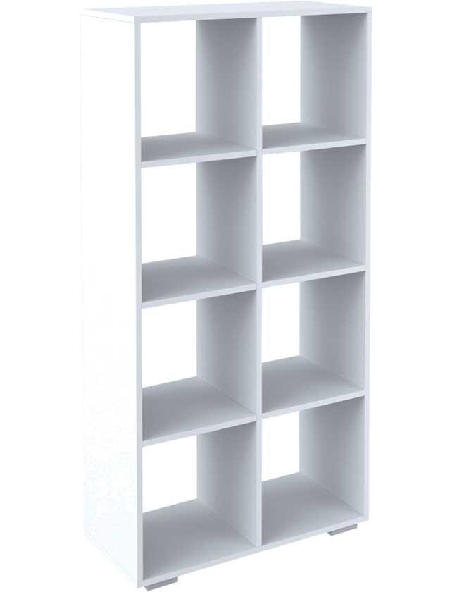 Стеллаж, 8 секций, 70х31,5х137,2 см, белый, С-БН.026.07.00.00-06