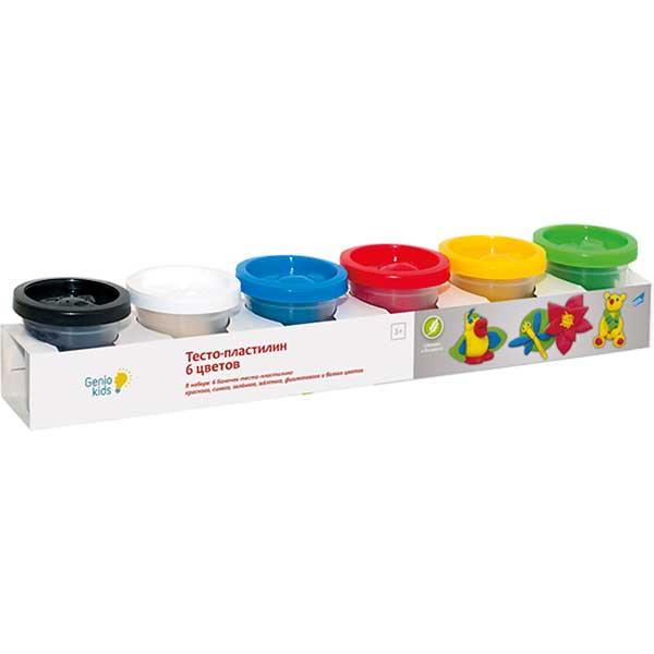 Купить Набор для детского творчества Тесто пластилин 6 цветов артикул TA1009V