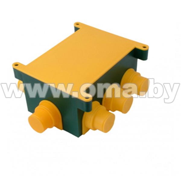 Купить Коробка монтажная, универсальная для монолитных стен, прямоугольная с крышкой КР1301 ( вн/р118x76x58)мм HEGEL
