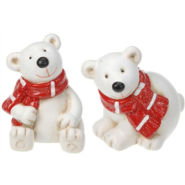 Сувенир новогодний Медведь APF437020 керамический в ассортименте  - купить со скидкой