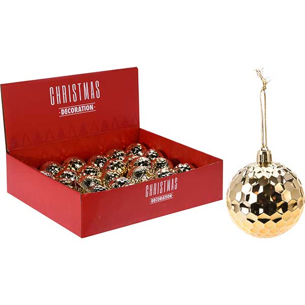 Купить Набор шаров елочных CAA716500, 6 см, золото, полистирол, 6 шт