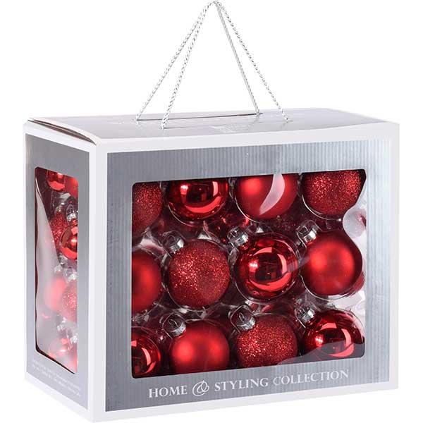Купить Набор елочных шаров ABR400820, красный, стекло, 60 шт