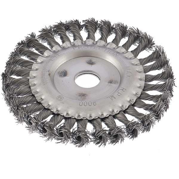 Купить Щетка радиальная Сибртех 746347 проволочная ф150х22, 2 мм плоская