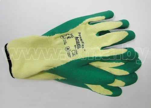 Купить Перчатки Пауэр Флекс арт.80-100 х/б с каучук покр р-р 10