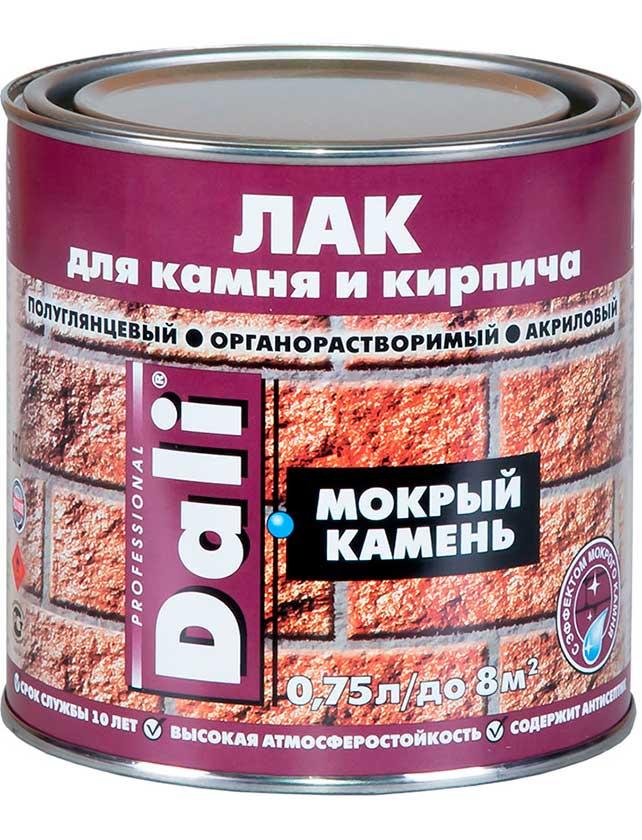 Лак для камня DALI Мокрый камень 0, 75 л  - купить со скидкой